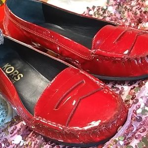 🍒Micheal Kors RED patent leather flat